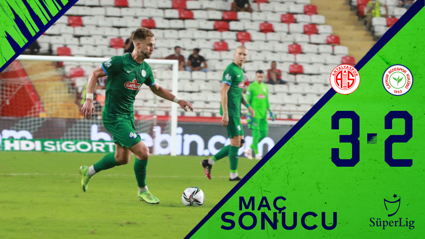 Fraport-Tav Antalyaspor 3:2 Çaykur Rizespor