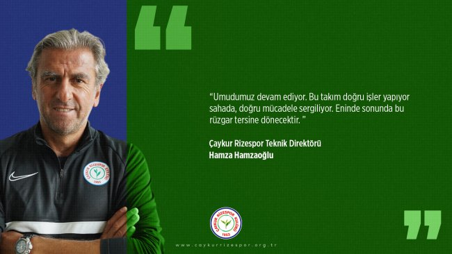 Teknik Direktörümüz Hamza Hamzaoğlu'ndan Maç Sonu Açıklaması