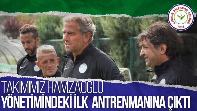 Takımımız, Teknik Direktörümüz Hamza Hamzaoğlu yönetimindeki ilk antrenmanına çıktı.
