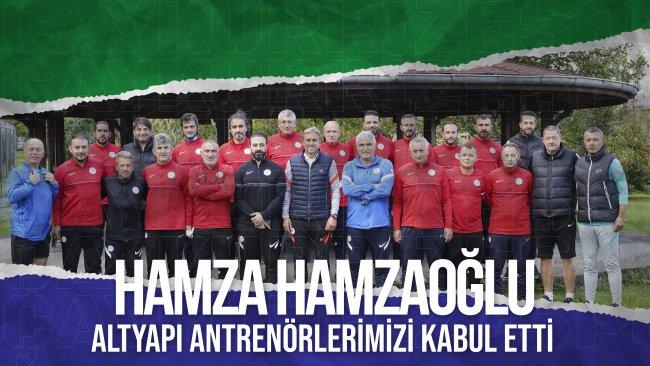 Teknik Direktörümüz Hamza Hamzaoğlu, Altyapı Antrenörlerimizi Kabul Etti
