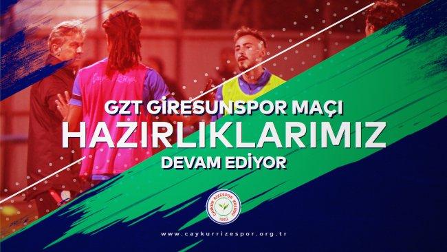 GZT Giresunspor Maçı Hazırlıklarımız Devam Ediyor