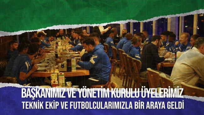 Başkanımız ve Yönetim Kurulu Üyelerimiz, Futbolcularımızla Moral Yemeğinde Bir Araya Geldi