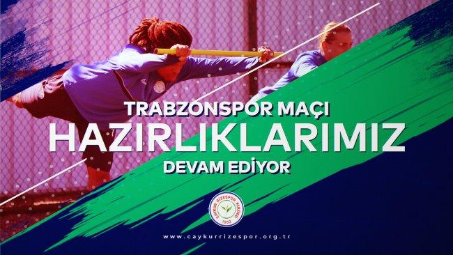 Trabzonspor Maçı Hazırlıklarımız Devam Ediyor